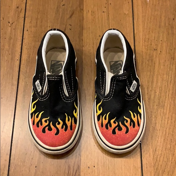 990343ae Vans Fire Flame Shoe - Toddler size 7